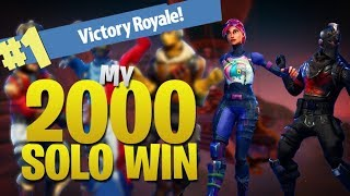First PC NA Player to 2,000 Solo Wins! (Fortnite Battle Royale)
