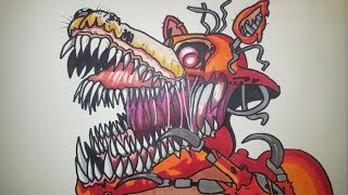 How To Draw Twisted Foxy From FNAF The Twisted Ones Step By Step