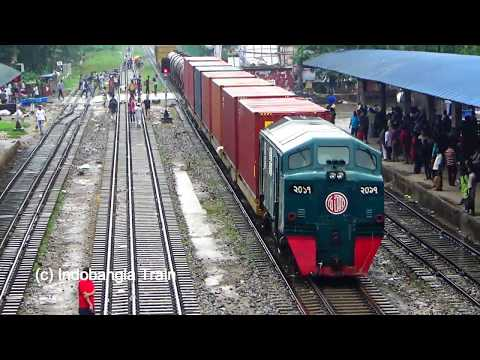 Biggest Freight Train of Bangladesh Railway Entering Airport Station Dhaka