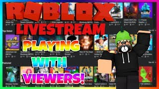 🔴ROBLOX LIVESTREAM//PLAYING WITH VIEWERS(01/01/20)🔴