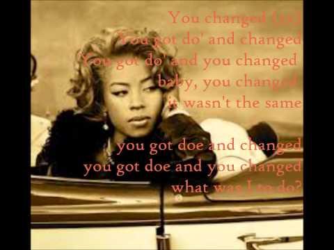 Keyshia Cole- You changed lyrics 2013
