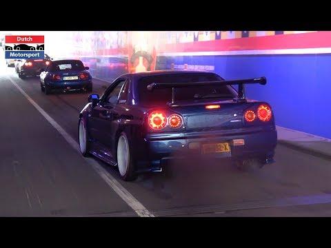 JDM CARS vs TUNNEL  Skyline, 800HP Supra, LC500h, RX7, 300ZX, Lancer Evo, 200SX, Aristo,...