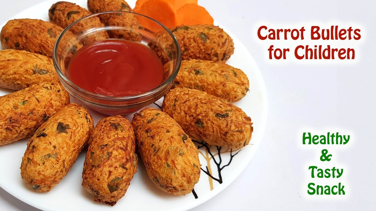 Children S Healthy Carrot Snack Recipe Carrot Bullets Carrot Fritters Youtube