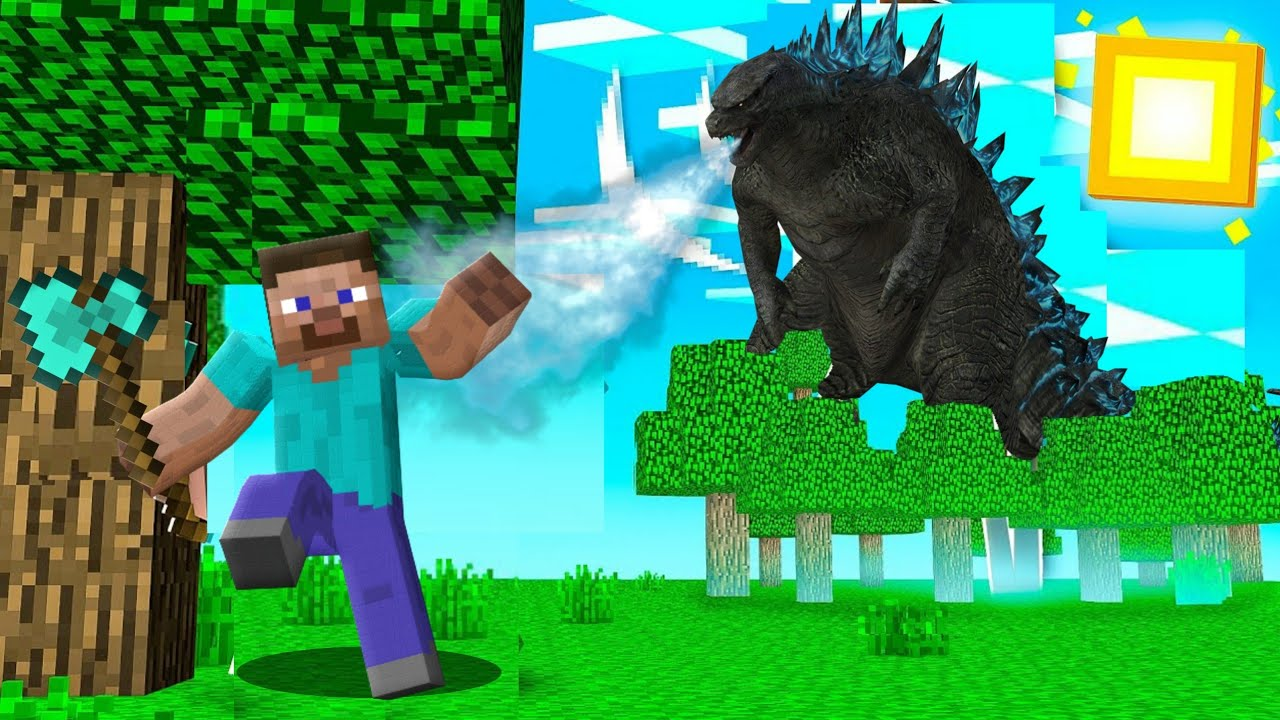 I found GODZILLA in Minecraft !!