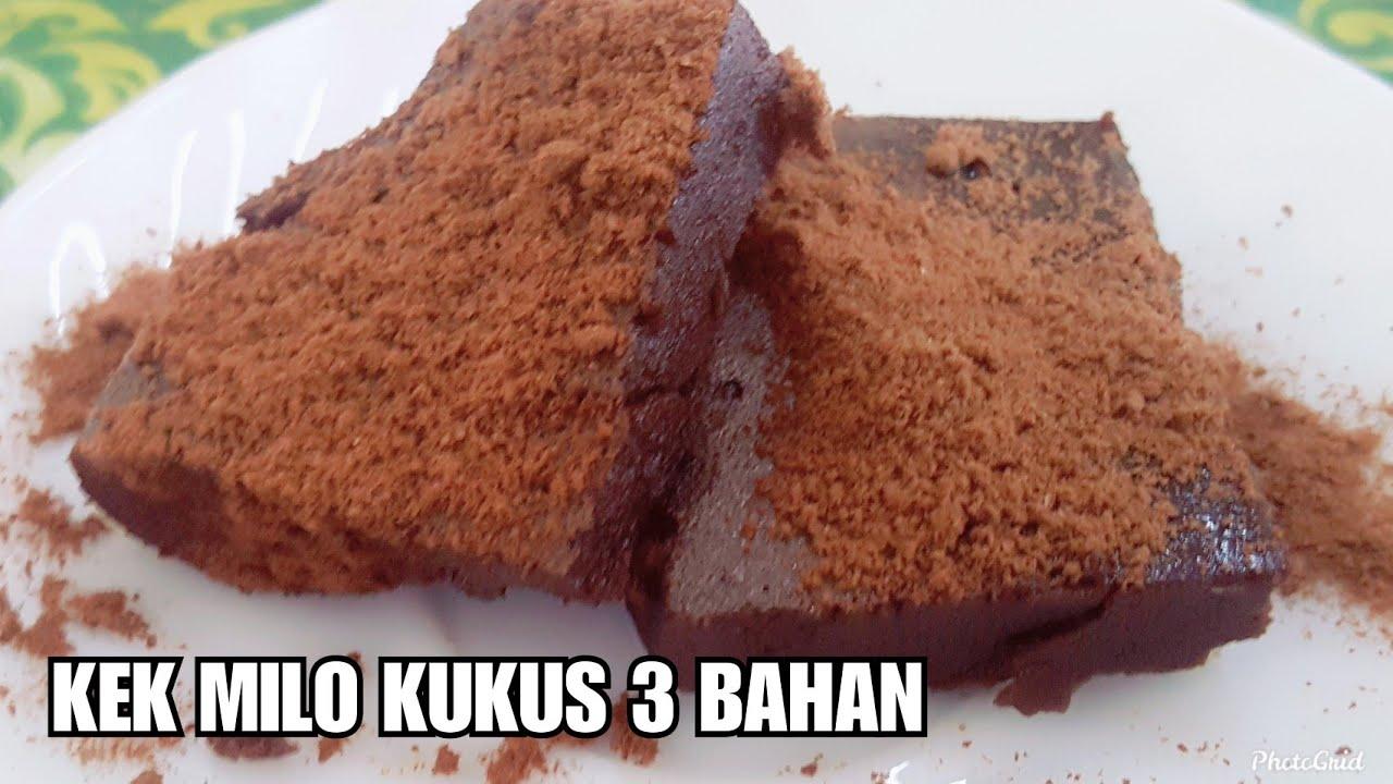 Kek Milo Kukus 3 Bahan Senang Dan Mudah Iban Vlog Asian Food Sedap Sarawakku Sayang Youtube