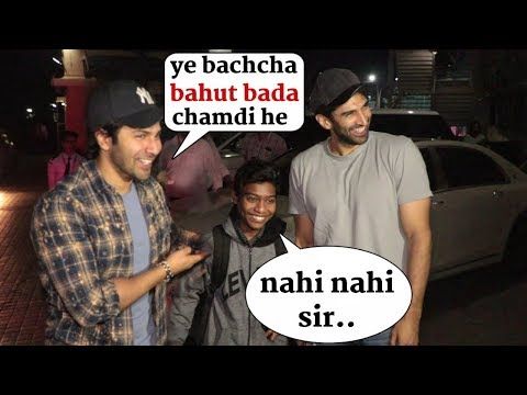 Varun Dhawan and Aditya Roy Kapoor fun with a fan | Best moment