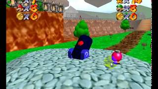 jugando super mario 64 multiplayer