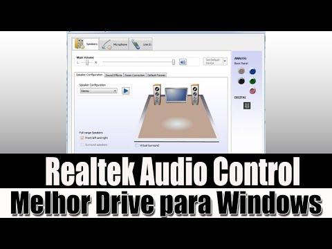 MELHOR DRIVE DE AUDIO /MICROFONE  PARA INSTALAR EM SEU WINDOWS (ULTIMA VERSAO DO REALTEK HD AUDIO)