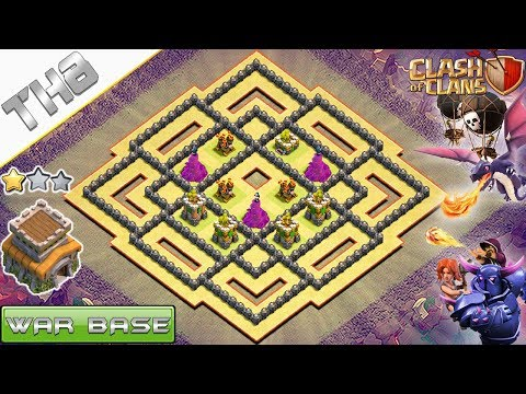 NEW! COC TH8 War Base 2018 !! Anti 2 Stars TH8 Base – Clash Of Clans