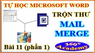 Tự học Microsoft Word - Bài 11_1: Giới thiệu Kỹ thuật Trộn Thư (Mail merge) trong Winword