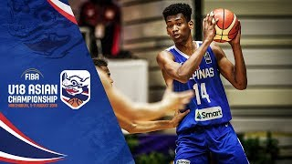 UAE v Philippines Full Game FIBA U18 Asian Chionship 2018