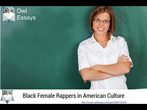 Black Female Rappers in American Culture - A9AYTZ2GYO