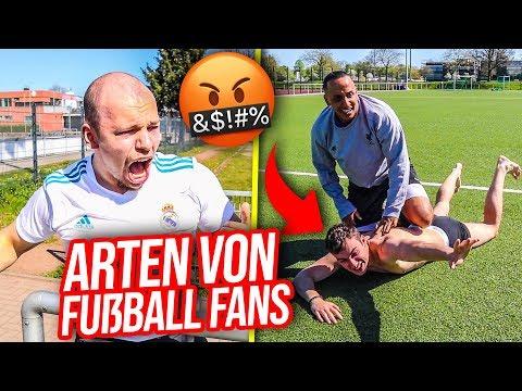 6 ARTEN von FUßBALL FANS