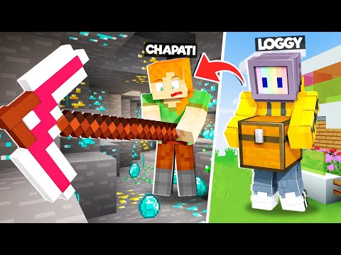 LOGGY!!! THIS PICKAXE CAN MINE ANYTHING | MINECRAFT