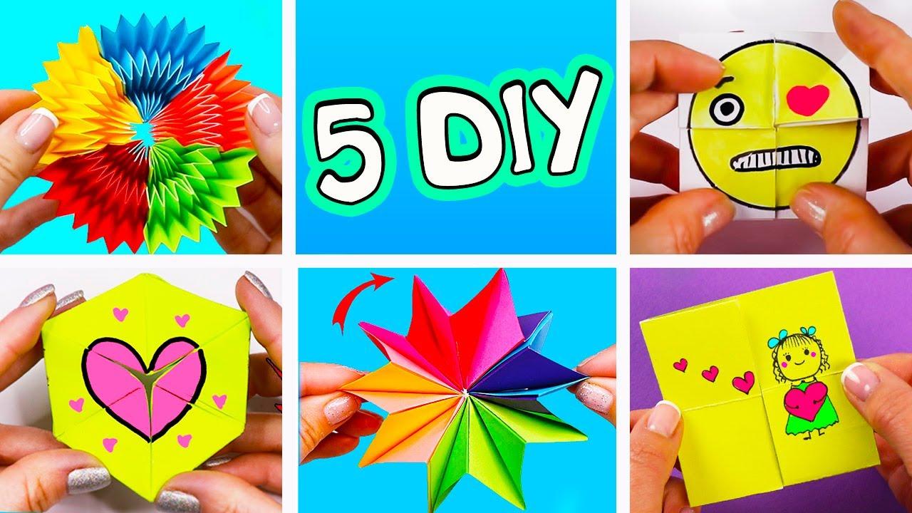 5 бесконечных антистресс игрушек из бумаги!