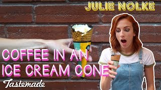 Coffee in an Ice Cream Cone I 5 Second Rule with Julie