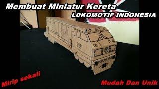 Download Video Cara Membuat Miniatur Kereta Api CC203 Indonesia Dari Kardus | Ide Kreatif MP3 3GP MP4