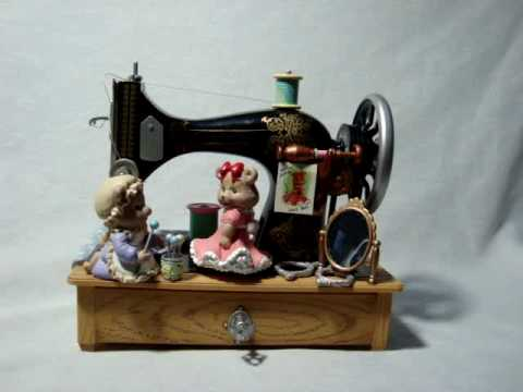 ANIMATED SEWING MACHINE MUSIC BOX YouTube Enchanting Animated Sewing Machine