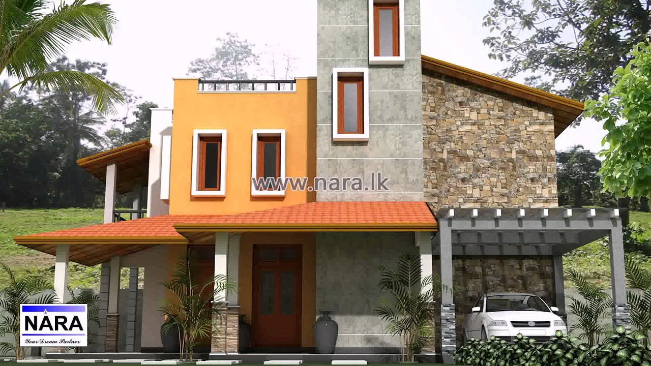 Architectural house plans in sri lanka in small land youtube for Modern house plans designs in sri lanka
