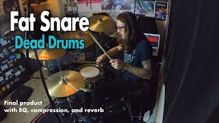 How to Get a Fat Snare + Dead Drum Sound // Tutorial Video