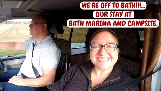 BATH CAMPERVAN TRIP. BATH MARINA AND CAMPING SITE . FEB.2018.