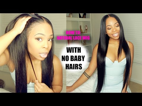 How to make your wig look NATURAL with NO BABY HAIRS!!!    DIAMOND VIRGIN HAIR