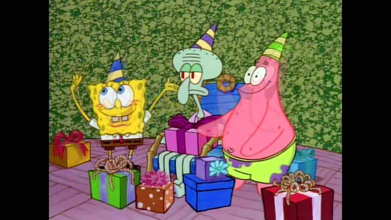 Spongebob Squarepants Happy Birthday Squidward