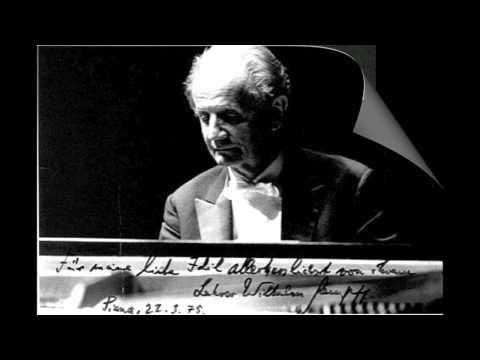 Wilhelm Kempff plays Beethoven's Moonlight Sonata (No. 14), Op. 13