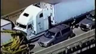 18 wheeler police chase
