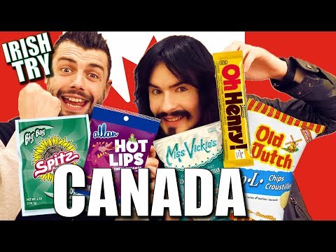 Irish People Taste Test CANADIAN SNACKS!! - (GetCanucked)