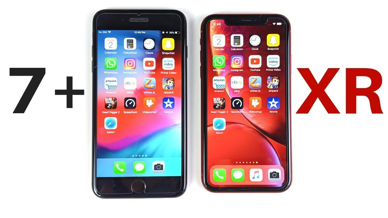 iphone 7 plus vs iphone xr speed test youtube. Black Bedroom Furniture Sets. Home Design Ideas