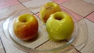 Запеченные яблоки в микроволновке