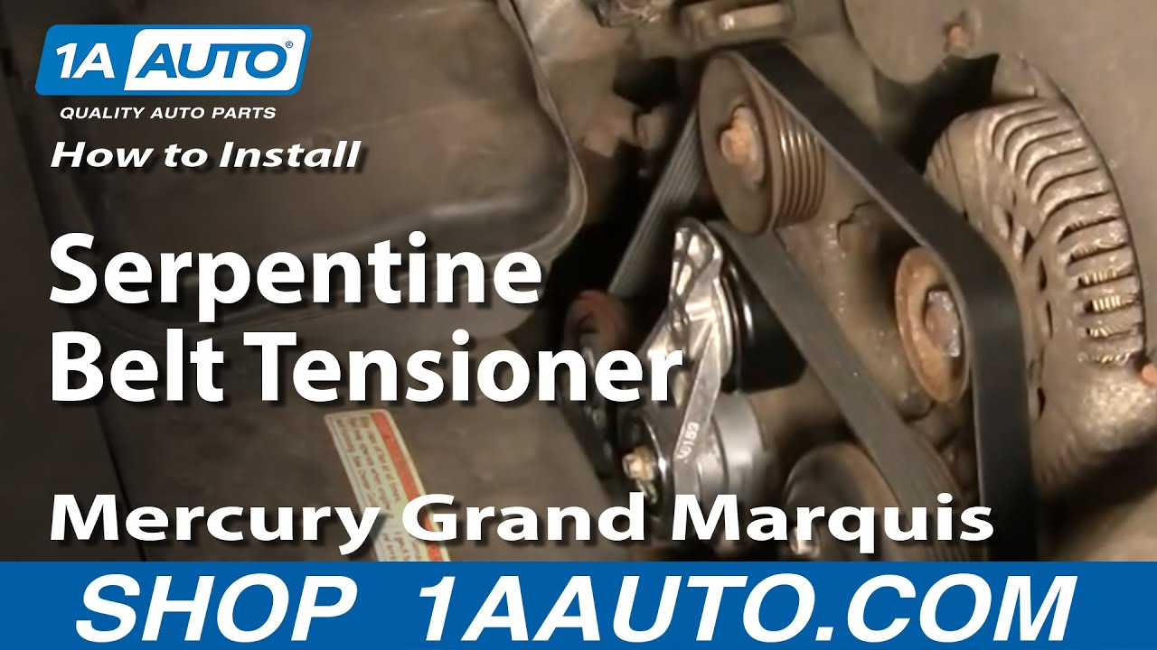 how to replace serpentine belt tensioner with pulley 00 10 mercury grand marquis 4 6l youtube how to replace serpentine belt tensioner with pulley 00 10 mercury grand marquis 4 6l