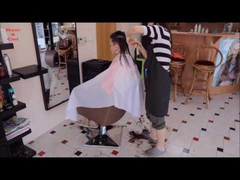 2017-23 Michaela preview - long hair cut to very short