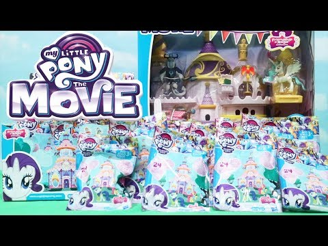 MLP Blind Bags & My Little Pony The Movie Canterlot Castle With Toys and Dolls - Family Fun Playtime