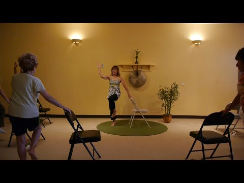 Exercises to Get Rid of a Flabby Stomach: Chair Yoga sequences with Sherry Zak Morris, E-RYT