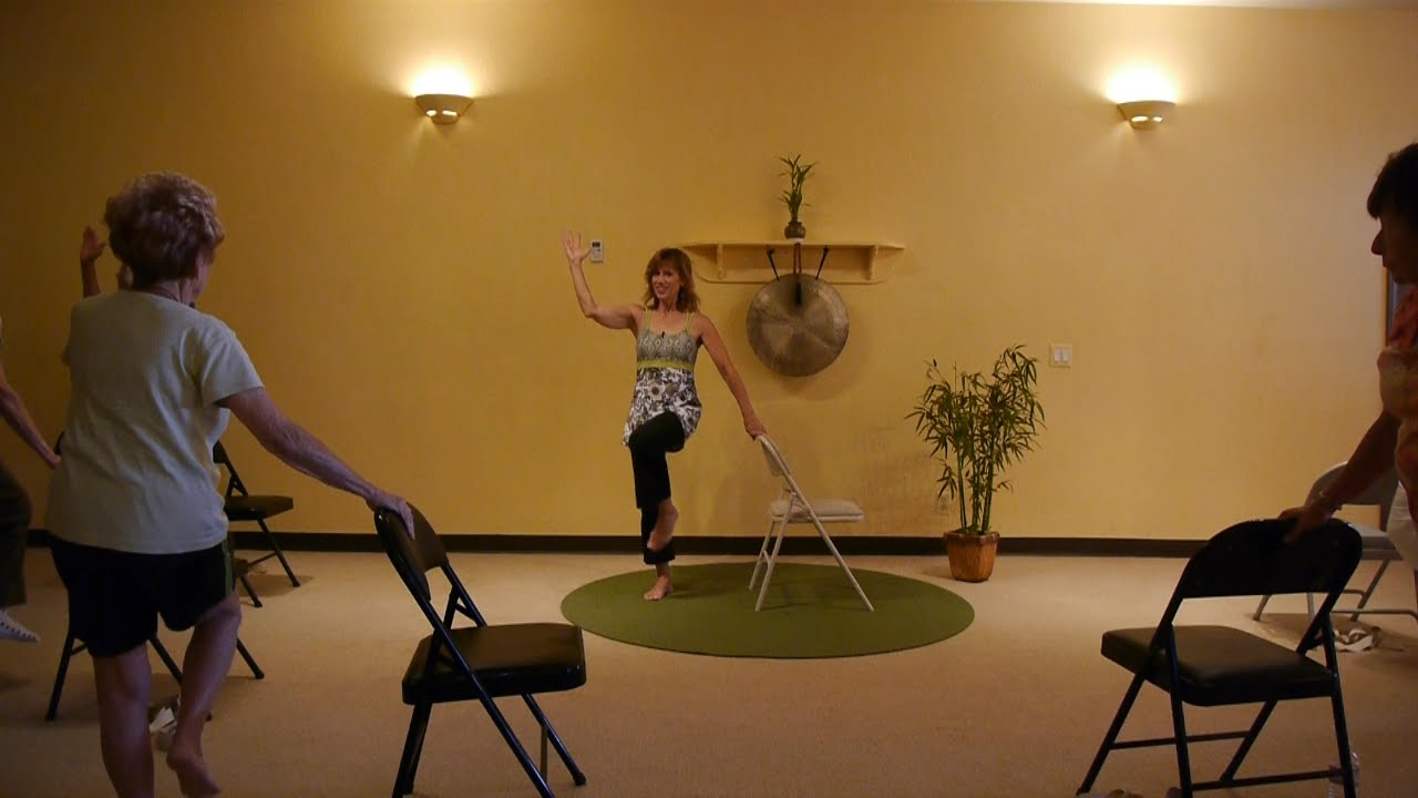 Chair yoga elderly - Exercises To Get Rid Of A Flabby Stomach Chair Yoga Sequences With Sherry Zak Morris E Ryt Youtube