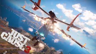 Epic Cargo Plane Destruction Movie Stunt - Just Cause 3