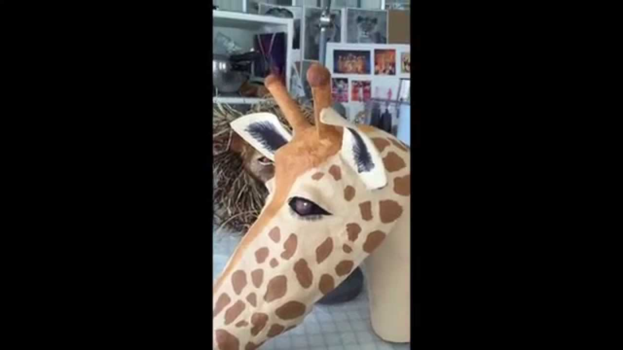 How to make a giraffe mask out of paper mache youtube for What to make out of paper mache