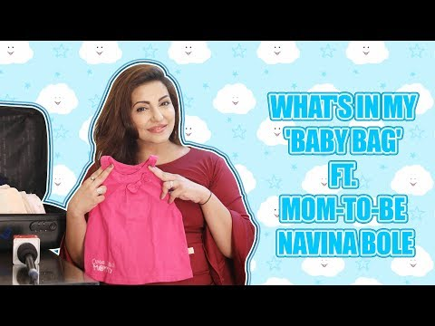 What's In My 'Baby Bag' Ft. Mom-to-be Navina Bole ||Ishqbaaz|| ||Exclusive||
