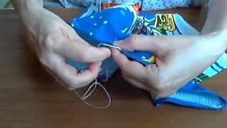 как сделать петельку для полотенца
