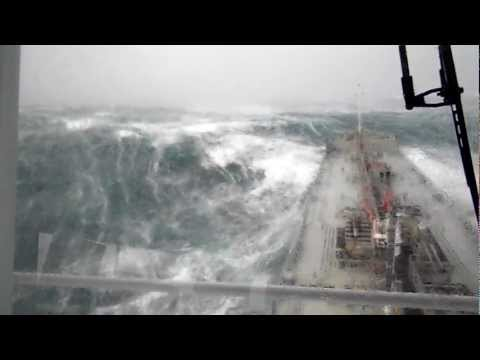 Ship in bad weather northwest of England (2)