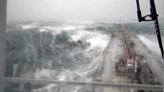 Ship in bad weather northwest of England (2)