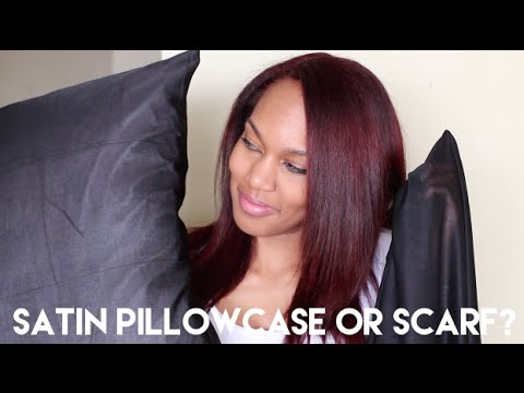 Satin Pillowcase For Hair Stunning WHICH IS BETTER Satin Pillowcase Vs Scarf Nighttime Hair Care