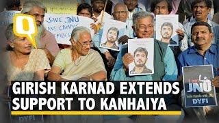 Playwright Girish Karnad Expresses Solidarity with Kanhaiya Kumar