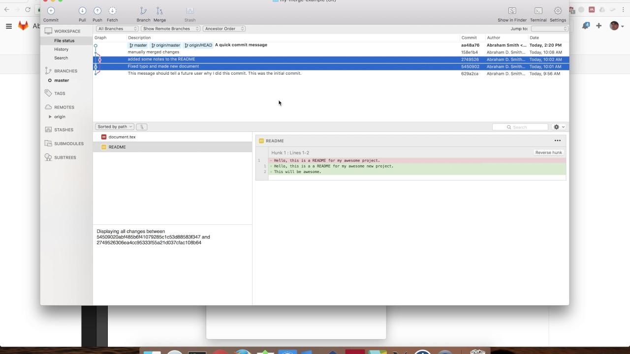 Using SourceTree on a Mac