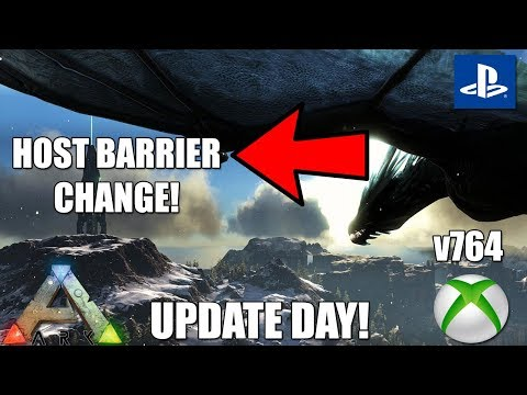 ARK XBOX ONE UPDATE DAY! - INCREASED/REMOVED HOST BARRIER! - PS4 NEWS AND MORE!