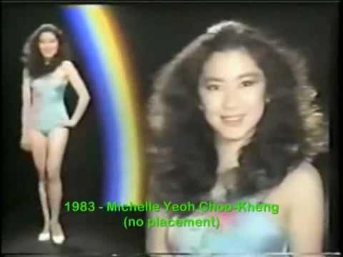 Michelle Yeoh at Miss World 1983