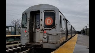 MTA NYC Subway: On Board R68 (D) Train From Coney Island to 36th Street via West End Express