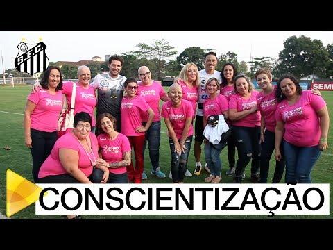 Marque esse gol: Santos FC apoia campanha de conscientização sobre o câncer de mama